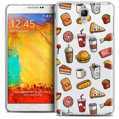 Extra Slim Crystal Galaxy Note 3 Neo/Mini Case Foodie Fast Food