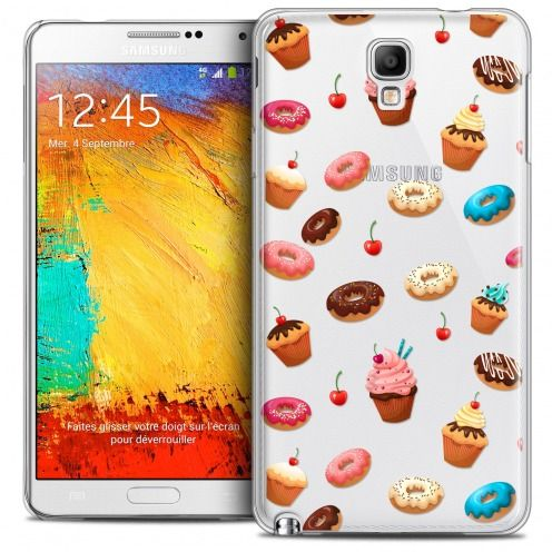 Extra Slim Crystal Galaxy Note 3 Neo/Mini Case Foodie Donuts