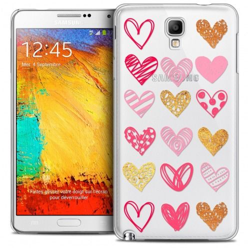 Extra Slim Crystal Galaxy Note 3 Neo/Mini Case Sweetie Doodling Hearts