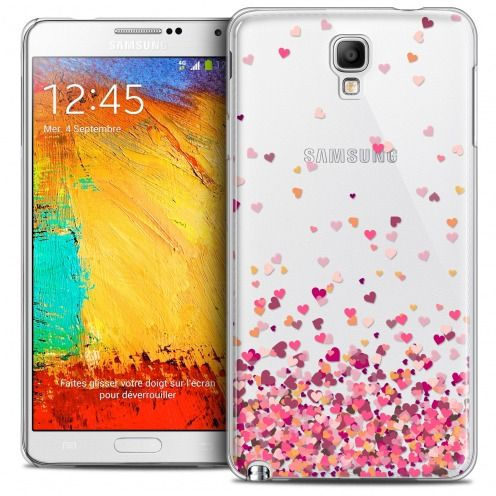 Extra Slim Crystal Galaxy Note 3 Neo/Mini Case Sweetie Heart Flakes