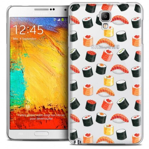 Extra Slim Crystal Galaxy Note 3 Neo/Mini Case Foodie Sushi
