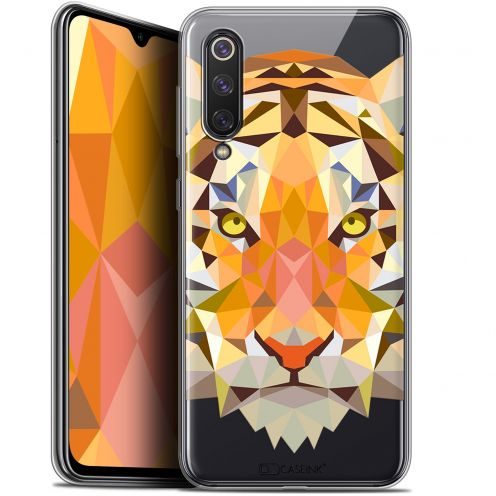 "Extra Slim Gel Xiaomi Mi 9 SE (5.97"") Case Polygon Animals Tiger"