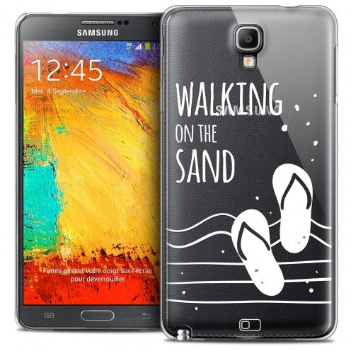 Extra Slim Crystal Galaxy Note 3 Neo/Mini Case Summer Walking on the Sand
