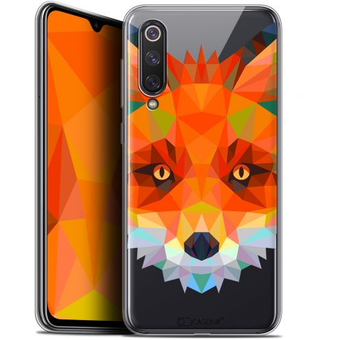 "Extra Slim Gel Xiaomi Mi 9 SE (5.97"") Case Polygon Animals Fox"