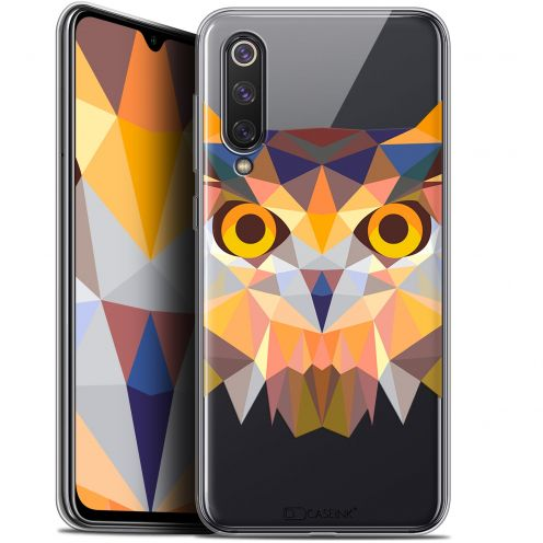 "Extra Slim Gel Xiaomi Mi 9 SE (5.97"") Case Polygon Animals Owl"