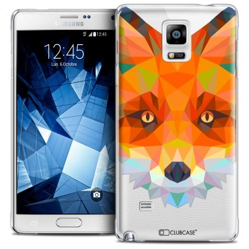 Extra Slim Crystal Galaxy Note 4 Case Polygon Animals Fox