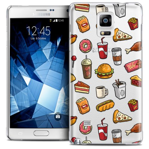 Extra Slim Crystal Galaxy Note 4 Case Foodie Fast Food