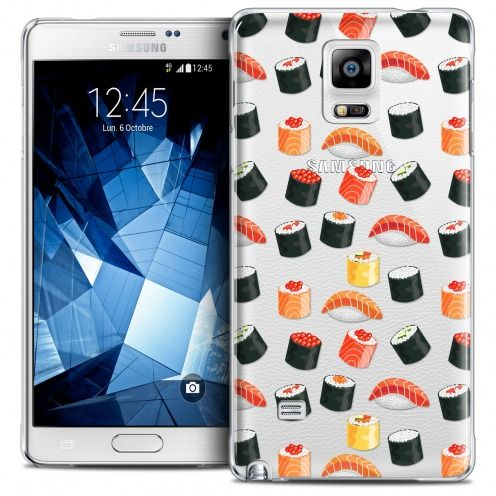 Extra Slim Crystal Galaxy Note 4 Case Foodie Sushi