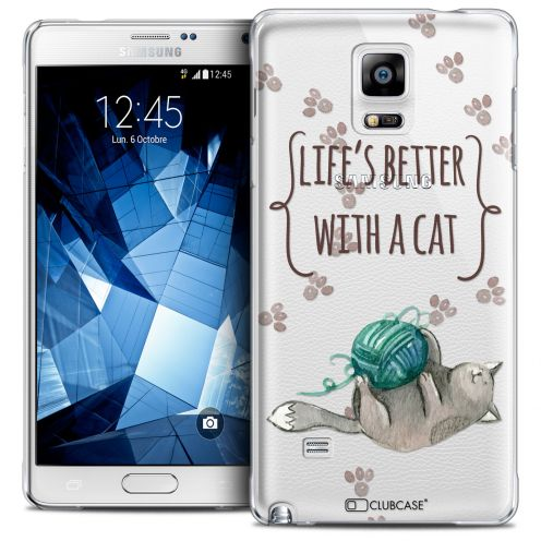 Extra Slim Crystal Galaxy Note 4 Case Quote Life's Better With a Cat