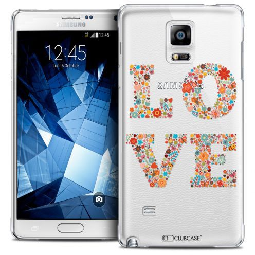 Extra Slim Crystal Galaxy Note 4 Case Summer Love Flowers