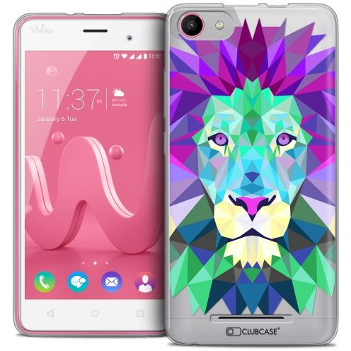 Extra Slim Crystal Gel Wiko Jerry Case Polygon Animals Lion