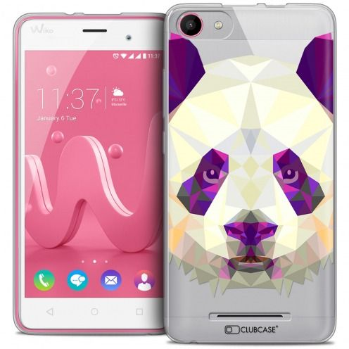 Extra Slim Crystal Gel Wiko Jerry Case Polygon Animals Panda