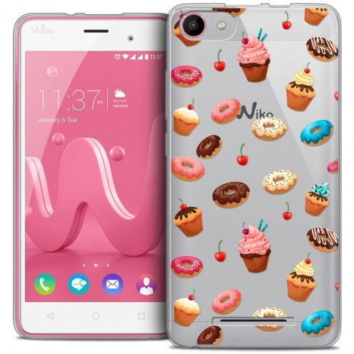 Extra Slim Crystal Gel Wiko Jerry Case Foodie Donuts