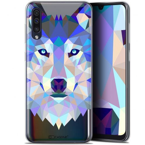 "Extra Slim Gel Samsung Galaxy A50 (6.4"") Case Polygon Animals Wolf"