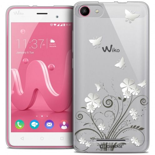 Extra Slim Crystal Gel Wiko Jerry Case Summer Papillons