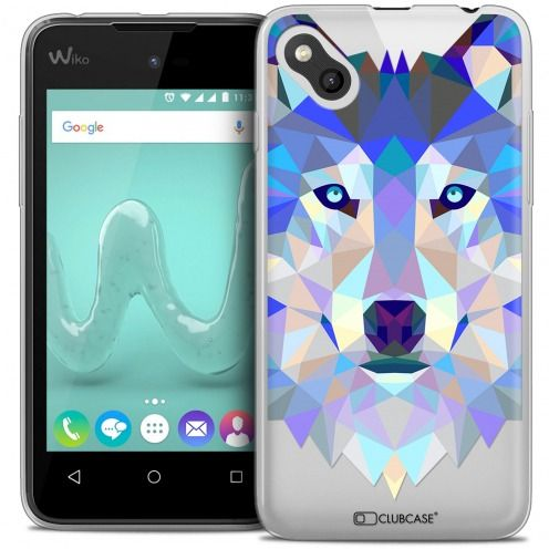 Extra Slim Crystal Gel Wiko Sunny Case Polygon Animals Wolf