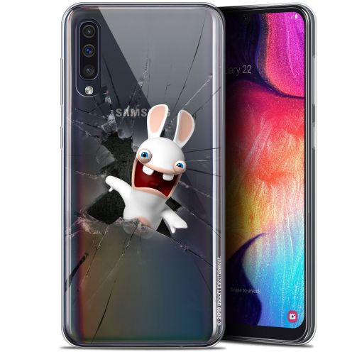 "Gel Samsung Galaxy A50 (6.4"") Case Lapins Crétins™ Breaking Glass"