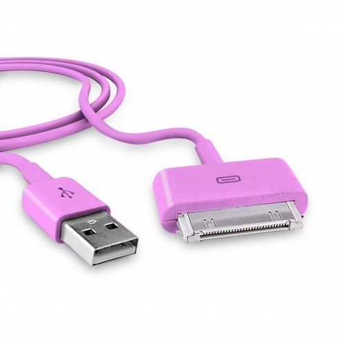 """Sync & charge data cable """"Dock Connector"""" Pink"""