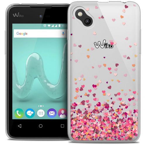 Extra Slim Crystal Gel Wiko Sunny Case Sweetie Heart Flakes
