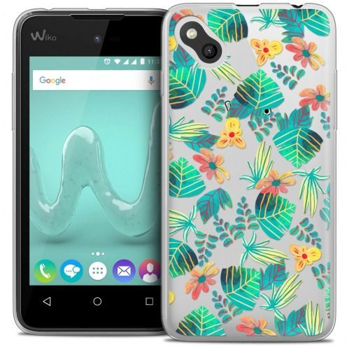 Extra Slim Crystal Gel Wiko Sunny Case Spring Tropical