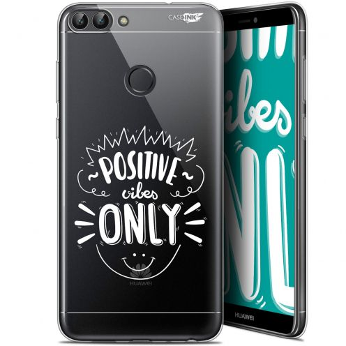 """Extra Slim Gel Huawei P Smart (5.7"""") Case Design Positive Vibes Only"""