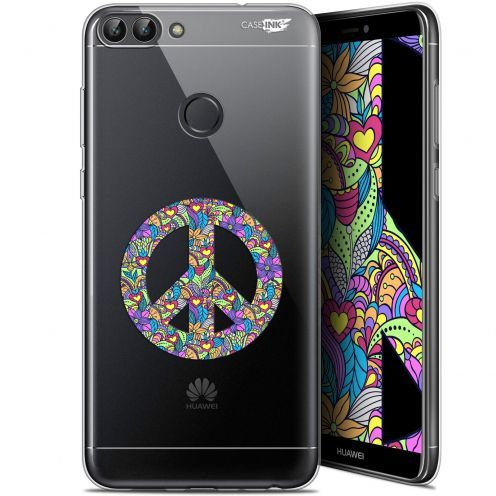 """Extra Slim Gel Huawei P Smart (5.7"""") Case Design Peace And Love"""