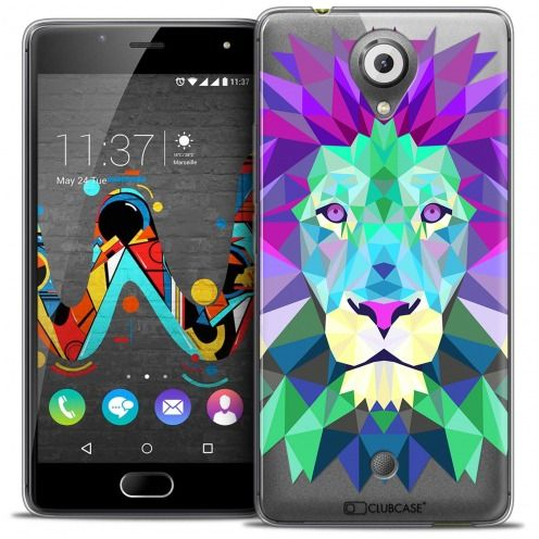 Extra Slim Crystal Gel Wiko U Feel Case Polygon Animals Lion