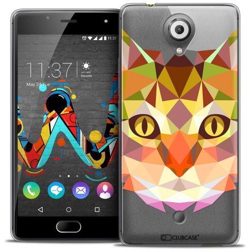 Extra Slim Crystal Gel Wiko U Feel Case Polygon Animals Cat