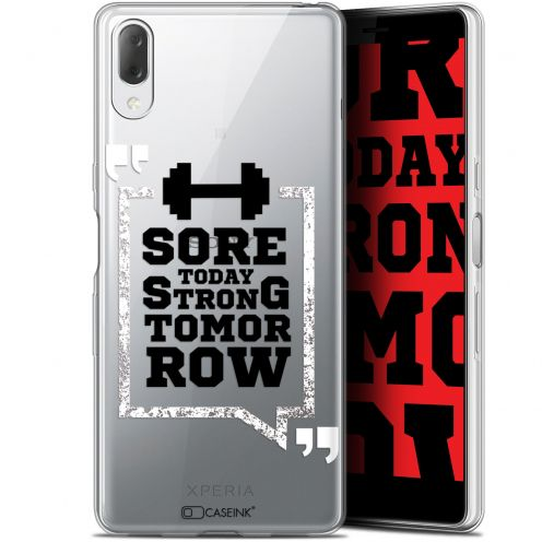 "Extra Slim Gel Sony Xperia L3 (5.7"") Case Quote Strong Tomorrow"