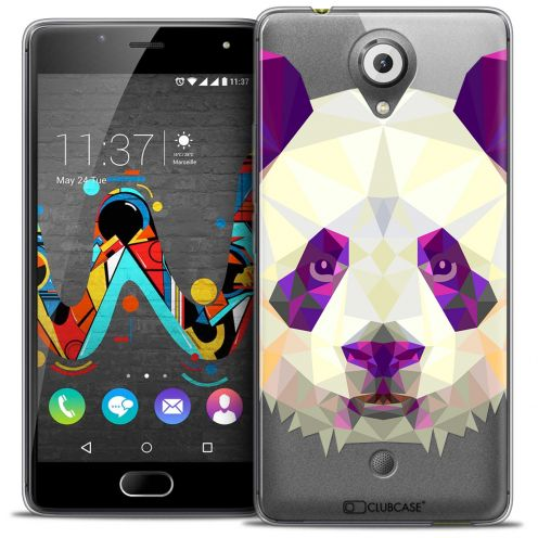 Extra Slim Crystal Gel Wiko U Feel Case Polygon Animals Panda