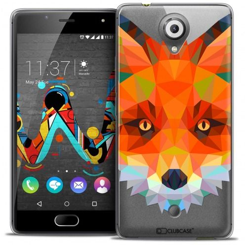 Extra Slim Crystal Gel Wiko U Feel Case Polygon Animals Fox