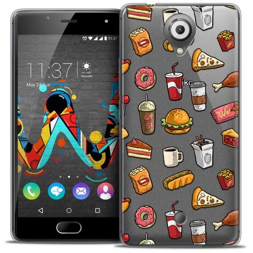 Extra Slim Crystal Gel Wiko U Feel Case Foodie Fast Food