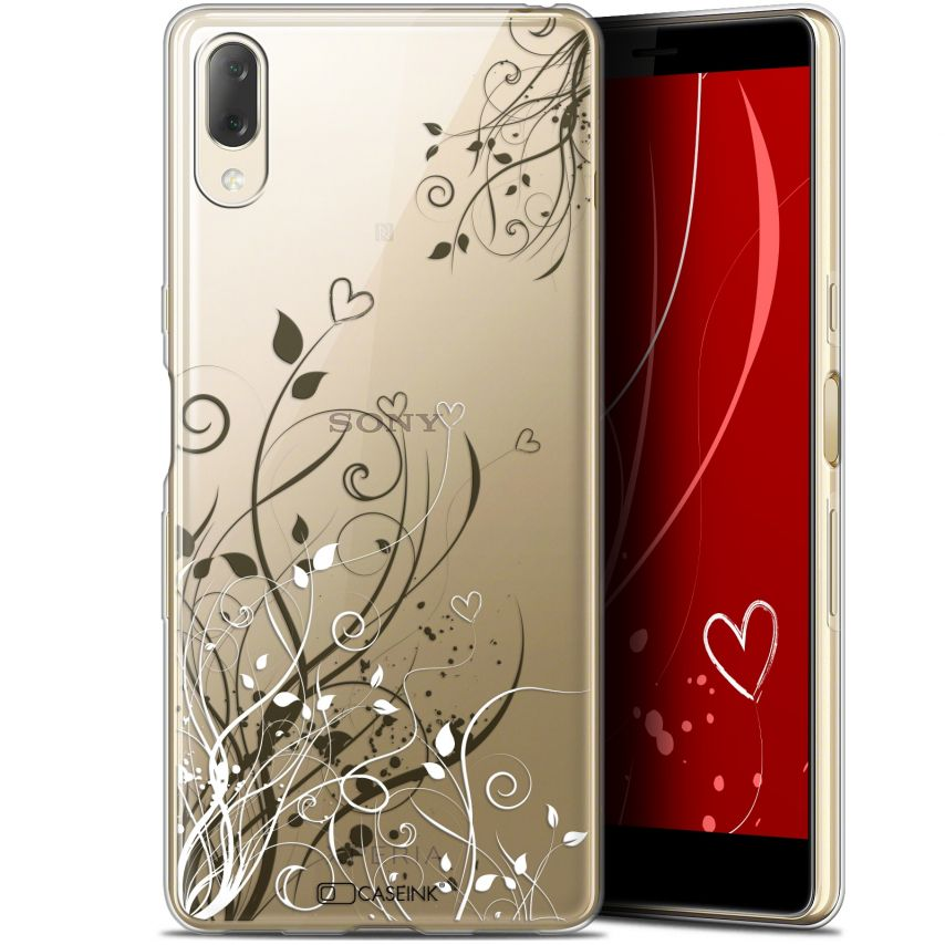 """Extra Slim Gel Sony Xperia L3 (5.7"""") Case Love Hearts Flowers"""