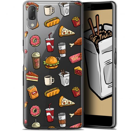 "Extra Slim Gel Sony Xperia L3 (5.7"") Case Foodie Fast Food"