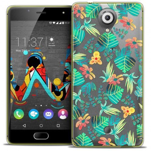 Extra Slim Crystal Gel Wiko U Feel Case Spring Tropical