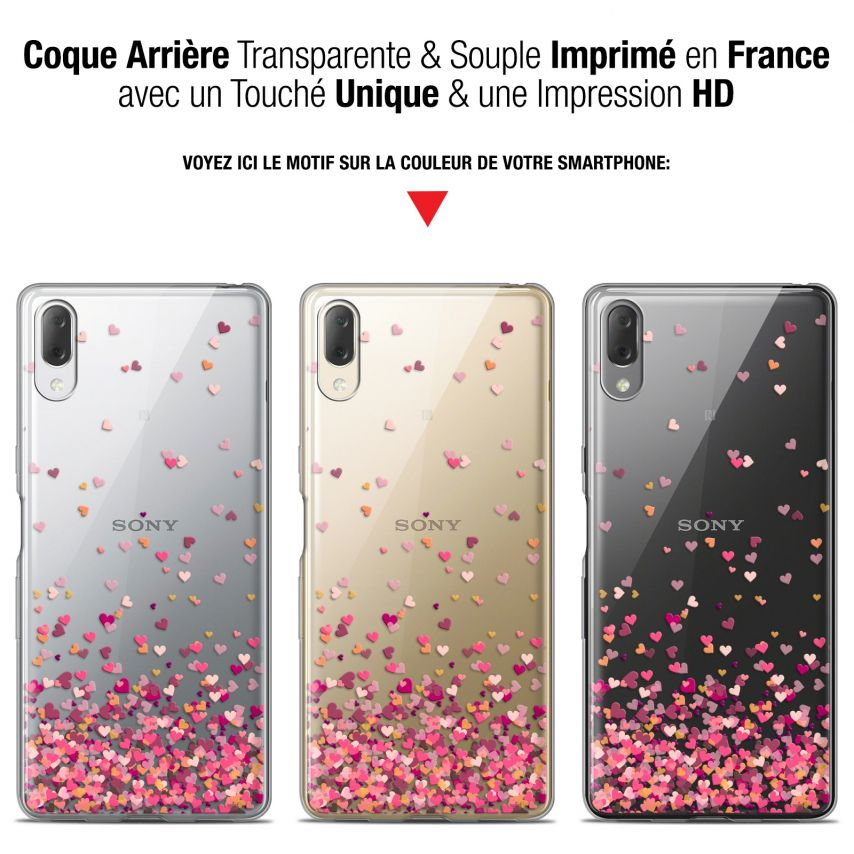 """Extra Slim Gel Sony Xperia L3 (5.7"""") Case Sweetie Heart Flakes"""