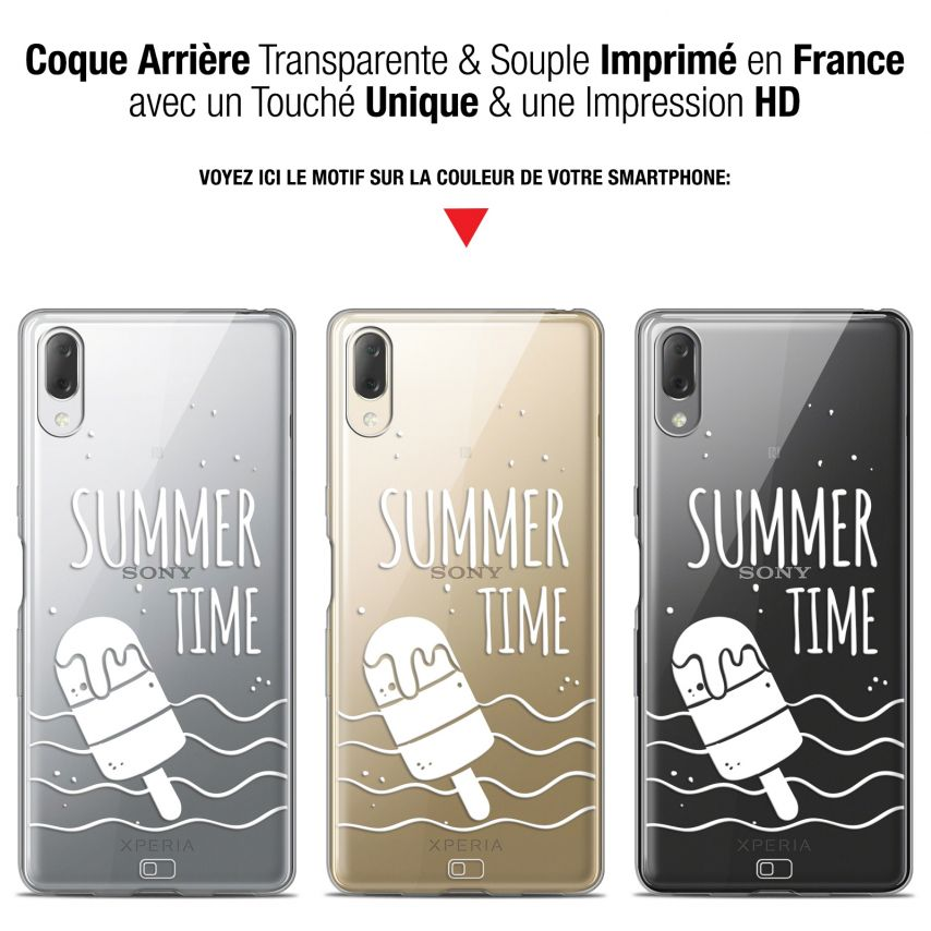"""Extra Slim Gel Sony Xperia L3 (5.7"""") Case Summer Summer Time"""