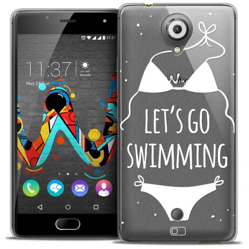 Extra Slim Crystal Gel Wiko U Feel Case Summer Let's Go Swim