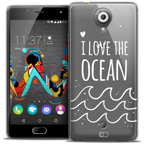 Extra Slim Crystal Gel Wiko U Feel Case Summer I Love Ocean