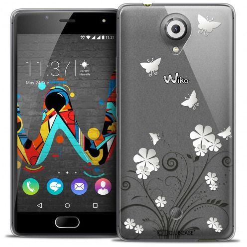 Extra Slim Crystal Gel Wiko U Feel Case Summer Papillons