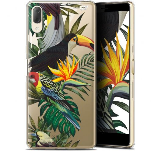 "Extra Slim Gel Sony Xperia L3 (5.7"") Case Design Toucan Tropical"