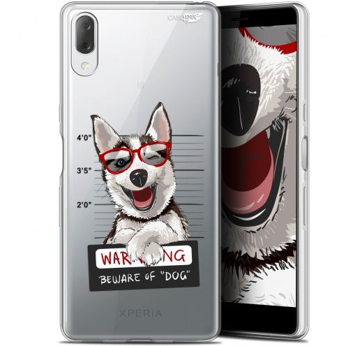 "Extra Slim Gel Sony Xperia L3 (5.7"") Case Design Beware The Husky Dog"