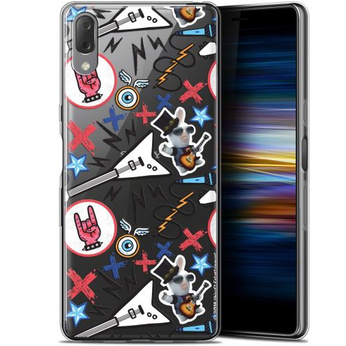 "Gel Sony Xperia L3 (5.7"") Case Lapins Crétins™ Rock Pattern"