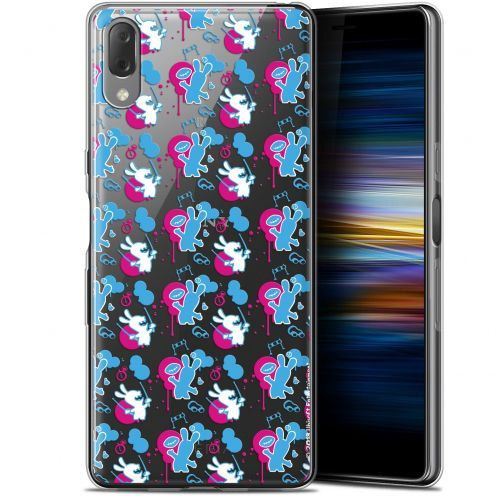 """Gel Sony Xperia L3 (5.7"""") Case Lapins Crétins™ Rugby Pattern"""