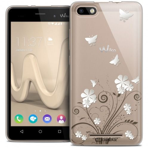 Extra Slim Crystal Gel Wiko Lenny 3 Case Summer Papillons