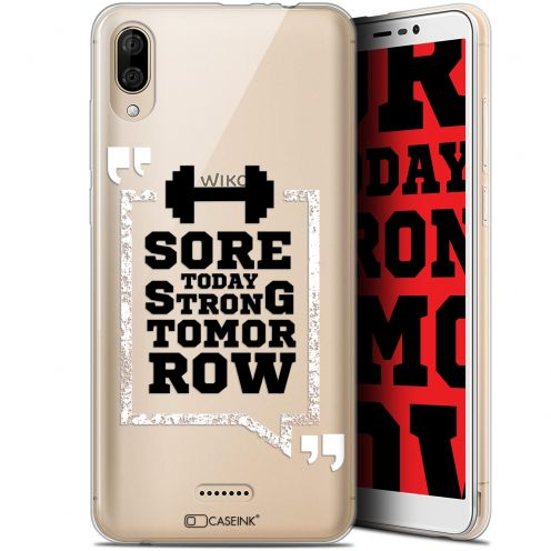 "Extra Slim Gel Wiko Y80 (6"") Case Quote Strong Tomorrow"