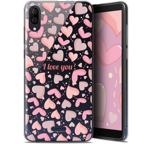 "Extra Slim Gel Wiko Y80 (6"") Case Love I Love You"