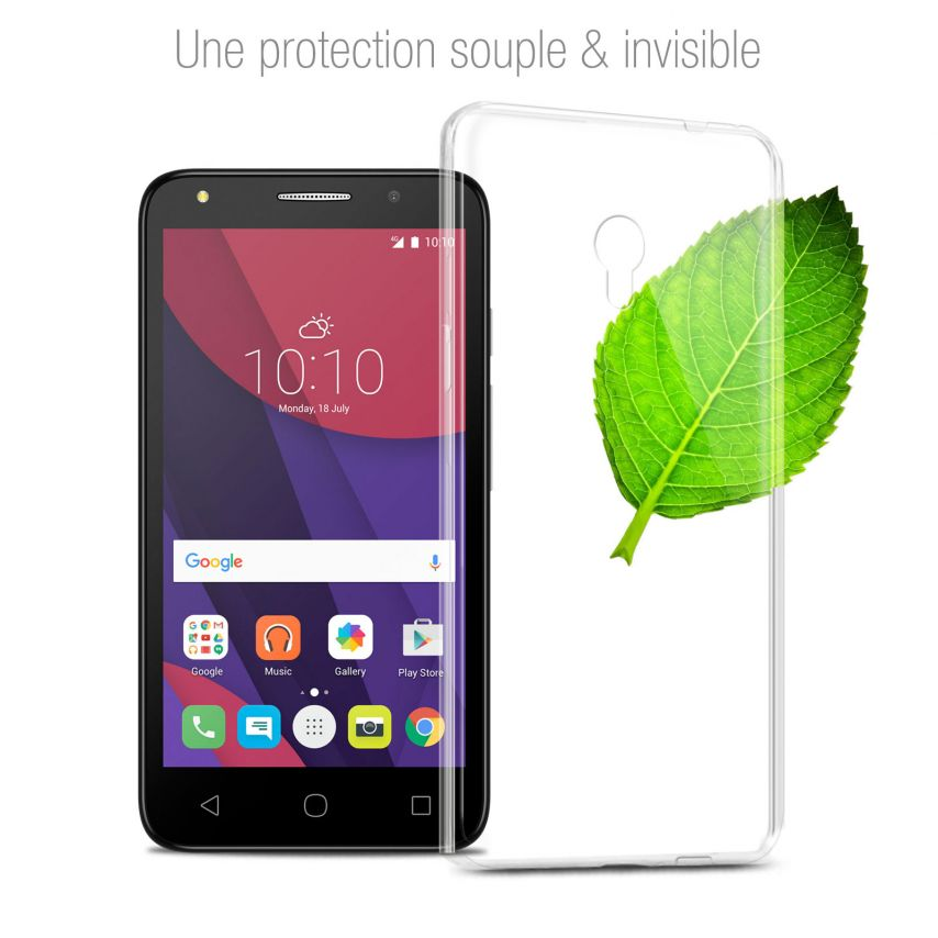 Extra Slim 1mm Crystal Clear View Flexible Case Alcatel Pixi 4 (5045X)