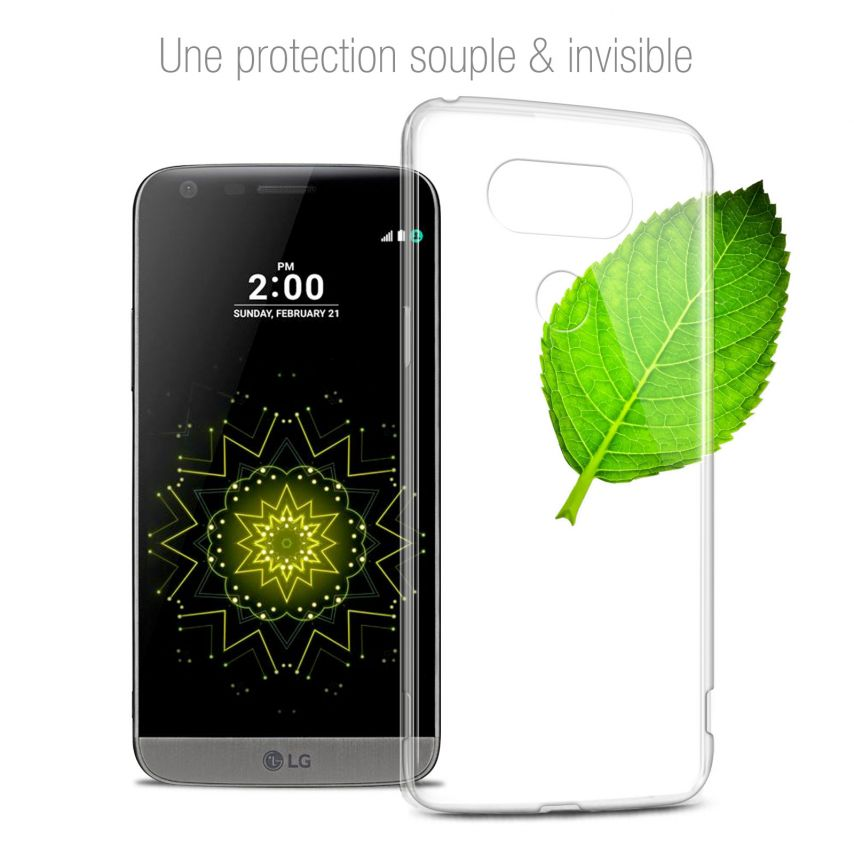 Extra Slim 1mm Crystal Clear View Flexible Case LG G5