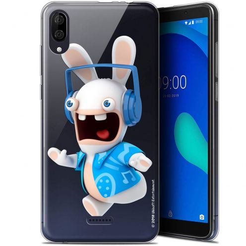 """Gel Wiko Y80 (6"""") Case Lapins Crétins™ Techno Lapin"""